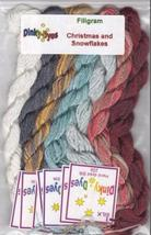 SILK FLOSS PACK Christmas & Snowflakes cross stitch Filigram Dinky Dyes - $25.20