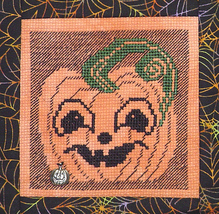 Happy Pumpkin Faces with Charm cross stitch chart Handblessings - $6.00