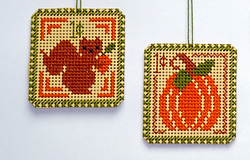 Autumn 1 cent Holiday Stamps cross stitch chart Handblessings
