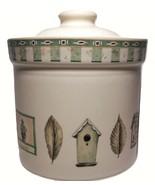 Pfaltzgraff Naturewood Mini Canister Birdhouse Oak Leaves Green Basil 4 ... - $15.80
