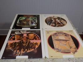 Lot Of 4 Vintage John Wayne Rca / Cbs Video Discs Selecta Vision Ced Format - $28.22