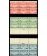 C20-C22, Mint NH VF-XF COMPLETE SET OF PLATE BLOCKS - Cat $202.50 - Stua... - $140.00
