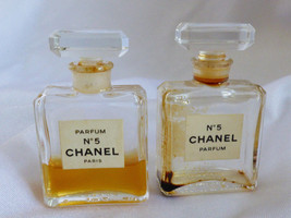 VTG set of 2 Chanel No 5 Perfume 7.5 ml 1/4 oz Rare with perfume - $94.05