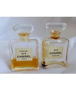 VTG set of 2 Chanel No 5 Perfume 7.5 ml 1/4 oz Rare with perfume - $94.05