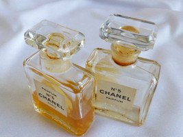 VTG set of 2 Chanel No 5 Perfume 7.5 ml 1/4 oz Rare with perfume image 4