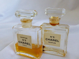VTG set of 2 Chanel No 5 Perfume 7.5 ml 1/4 oz Rare with perfume image 2