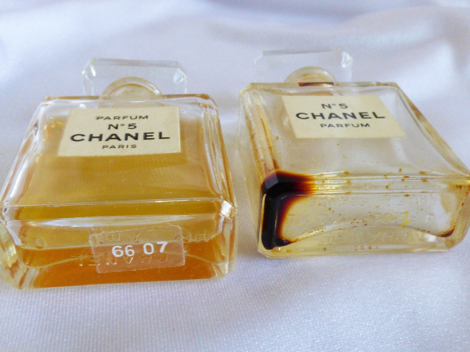VTG set of 2 Chanel No 5 Perfume 7.5 ml 1/4 oz Rare with perfume image 3