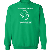015 Everybody Who See the Leprechaun Crew Sweatshirt irish clover patric... - $20.00+
