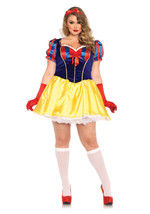 Women's Plus Snow White Poison Apple Princess Halloween Costume Set Bow ... - $37.99