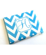 4.25'' x 5.50'' Blue ZigZag H Monogram Set of 6 Notecards and Envelopes - $3.88