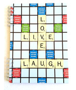 40pg Live Love Laugh Scrabble lined Journal Notebook - $9.99