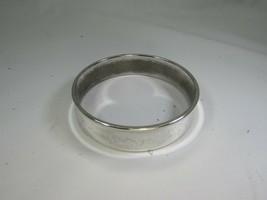 Vintage Silvertone Bangle Bracelet Silver Tone 51390 - $12.86