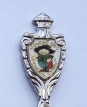 Collector Souvenir Spoon Canada Alberta Edmonton Klondike Days Gold Miner Emblem - $4.99