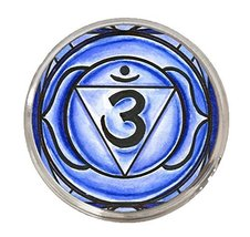 "6th Chakra Ajna 3rd Eye 1"" Circle Silver Adjustable Ring - $14.95"