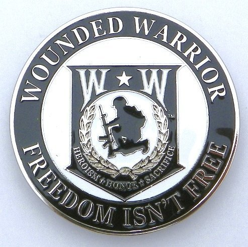 "Wounded Warrior Car/Truck Grille Badge Emblem (3"")"