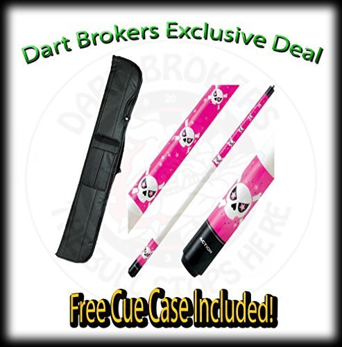 21 Oz Action Adv83 Pink Stained Maple with Girlie Skull Designs, Two-Piece Bi...
