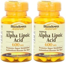 Sundown Naturals Super Alpha Lipolic Acid 600 M... - $31.35