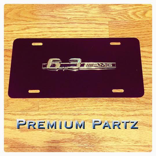 Mercedes benz amg 6 3 license plate 3d new aluminum black for Mercedes benz vanity license plates