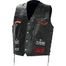 Diamond Plate™ Rock Design Genuine Buffalo Leather Concealed Carry Biker... - $59.95