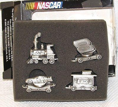 Dale Earnhardt Pewter Mini-Nascar Train Set w/Box Unisex Adult
