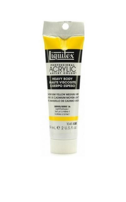 Primary image for Liquitex Heavy Body Acrylic Paint, Cadmium Yellow Medium Hue, 2 Ounce Tube