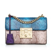 Fashion Snake Skin Shoulder Bag Women Messenger Chain Handbag Clutch 201... - $33.85+