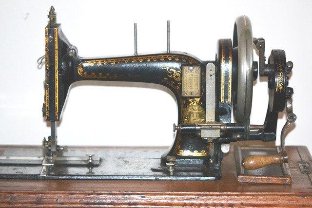 new home crank sewing machine