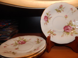 Lot of 4 Adderley cups and saucers bone china England Free shipping #135 - $32.99
