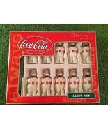 New Vintage Set Of Ten Christmas Coca-Cola Bear Novelty Lights Indoor/Ou... - $26.72