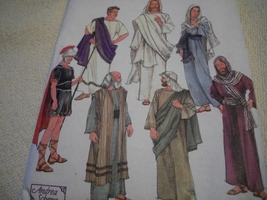 Vintage Easter Passion Play Costumes Pattern Simplicity 8108 - $5.00