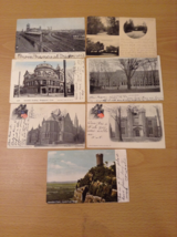 Lot of 7 Antique Postcards of Connecticut State Different Places, all 1900's