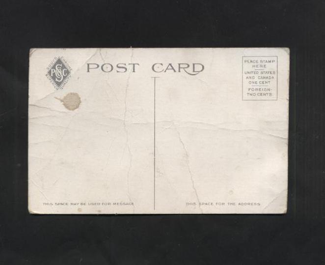 Vintage Postcard Market Street Loop Philadelphia  Advertising Buildings Trolley