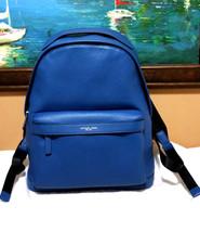 Michael Kors Men's russel Backpack book Leather ocean blue Stephen Bryan... - $148.49