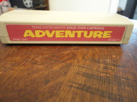 TEXAS INSTRUMENTS TI 99/4A Adventure tested cartridge interactive fictio... - $3.99