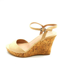 Charles David Woman Lambert Platform Wedge Sandal Ivory Ankle Strap Sz 8... - $39.59