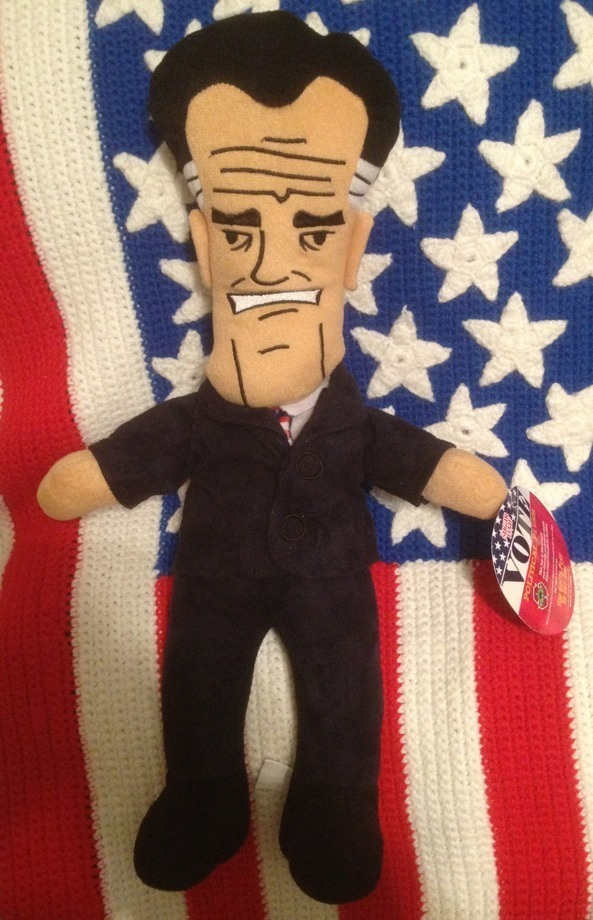 "Primary image for Republican MITT ROMNEY 15"" Presidential Plush Doll Great Condition with Hang Tag"