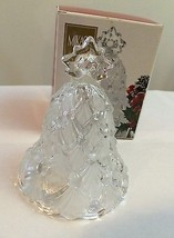 "MIKASA WINTER DREAMS GLASS BELL~CLEAR FROSTED~BOX INCLUDED~ 5-1/2"" GERMA... - $9.99"