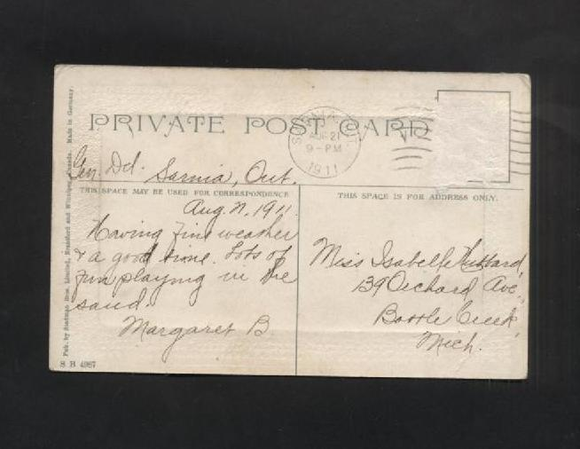 Vintage Postcard 19111910s Str Hamonic Boats Ships Steamliners