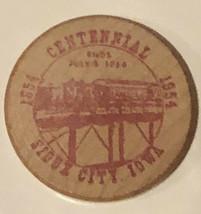 Vintage Sioux City Iowa Wooden Nickel 100 Years Of Progress 1954 - $5.93