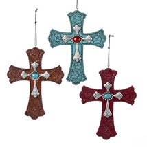 Western Cross with Gem Ornament - $13.95