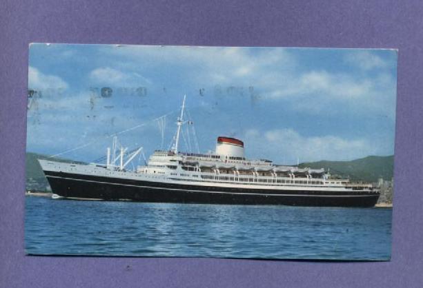 Columbus postcard ship