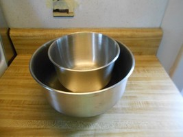 stainless steel mixing bowls for mixer in 2 sizes small and large - $21.80