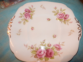 Adderley bone china England Tabbed plate Roses Free Shipping #135 - $29.99