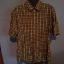 Woolrich Men's Short Sleeve Button Down Shirt - Green Plaid - Size Large - $14.00