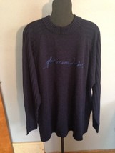 Platinum FUBU Men's Size 3X Navy Blue Embroidered Sweater EUC - $24.10