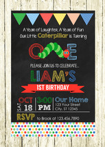 Very Hungry Caterpillar Personalized Printed Birthday Invitation - $10.00