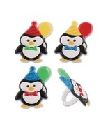 Penguin Birthday Party Cupcake Rings - 24 pcs - $4.95