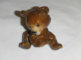 Vintage Goebel West Germany Brown Baby Teddy Cub Bear Sitting Figurine - $24.99