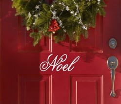 "Noel Christmas Holiday Vinyl Wall Sticker Decal 4""h x 11""w - $8.99"