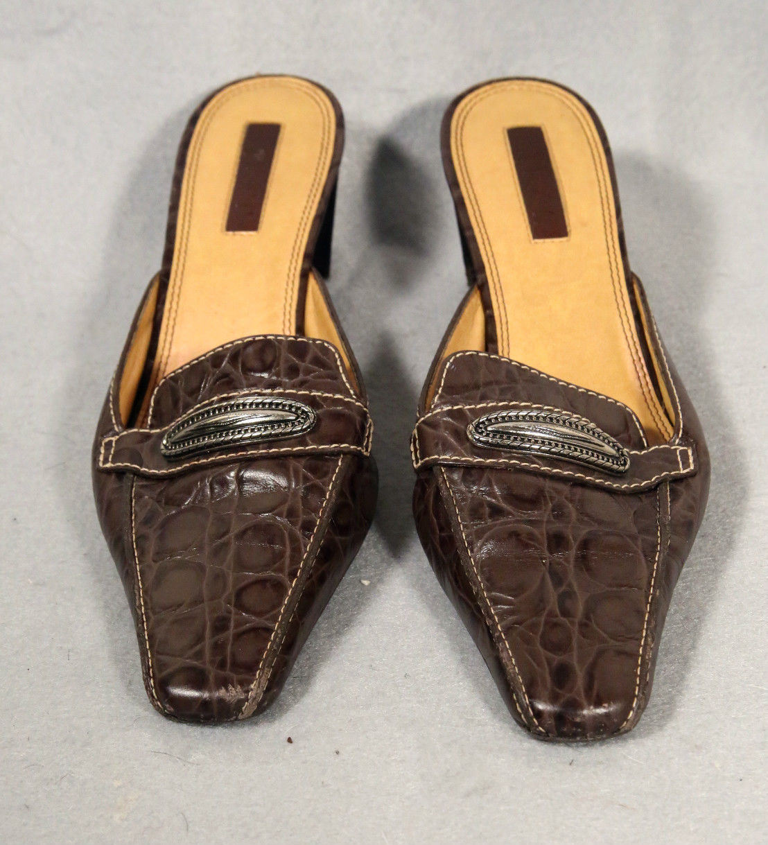 0a2bd3084146 Unisa Loris 7.5 Reptile Brown Leather Slide and 50 similar items